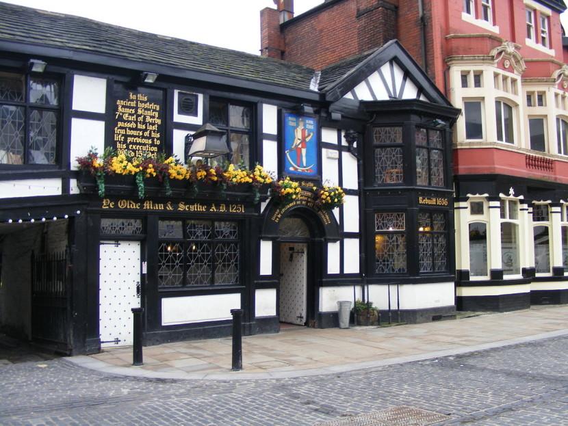 Паб Ye Olde Man and Scythe, Англия